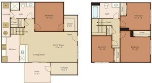 Floorplan at Paseo Del Sol Townhomes, 6280 S. Campbell Avenue