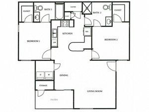Floorplan at The Colony Apartments, Arizona, 85122