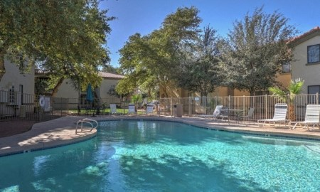 Sparkling Swimming Pool at The Colony Apartments, Casa Grande, Arizona