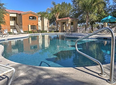 Resort-Style Pool at The Colony Apartments, Casa Grande, Arizona