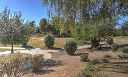 Beautifully Landscaped Grounds at The Colony Apartments, Casa Grande, Arizona