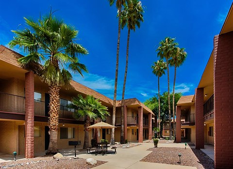Poolside Cabanas at Fountain Plaza Apartments, Tucson, 85712