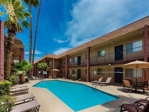 Resort Style Community at Fountain Plaza Apartments, Tucson, Arizona