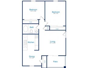 Floorplan at Palomino Crossing Apartment Homes, 750 E Irvington Rd, Tucson, AZ