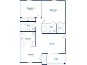 Floorplan at Palomino Crossing Apartment Homes, AZ, 85714
