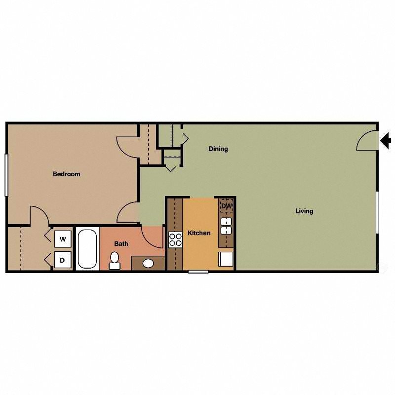 Palmetto Floor Plan WD at The Encore on the Bay at Seabrook, Texas, TX