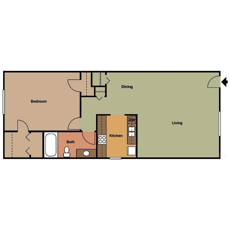 Palmetto Floor Plan at The Encore on the Bay at Seabrook, Texas, TX