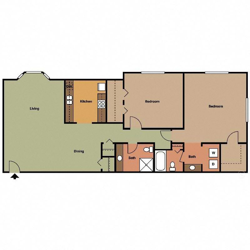 Sago Floor Plan at The Encore on the Bay at Seabrook, Texas, TX