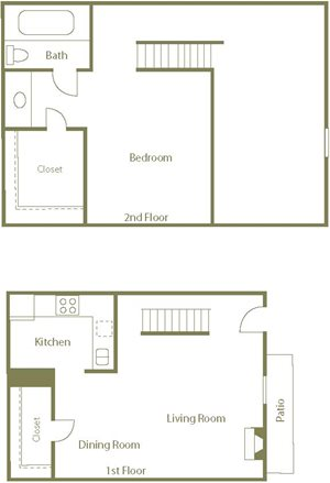 Swan Floor Plan at Center Point Apartment Homes in Raleigh, North Carolina, NC