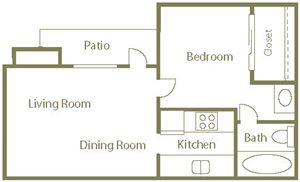 Wood Duck Floor Plan at Center Point Apartment Homes in Raleigh, North Carolina, NC