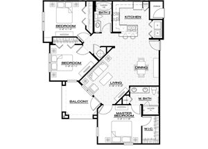 C2 Floor Plan, three bedroom, two bathroom, 1315 square foot apartment at Anson on Palmer Ranch in Sarasota, 34238.