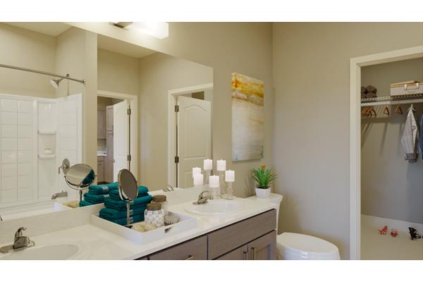 Dual Vanity Bathrooms in Select  Units*