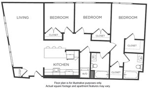 C1 Floorplan at Mission Bay by Windsor