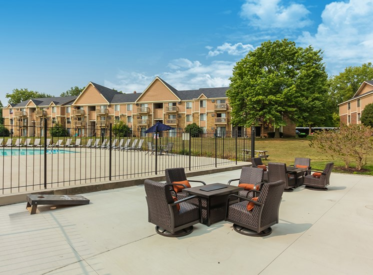 Modern Community Pool Area at The Orchards at Four Mile, Grand Rapids, MI