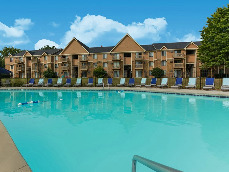 Huge Pool Available For All Residents of The Orchards Apartments. Grand Rapids, MI