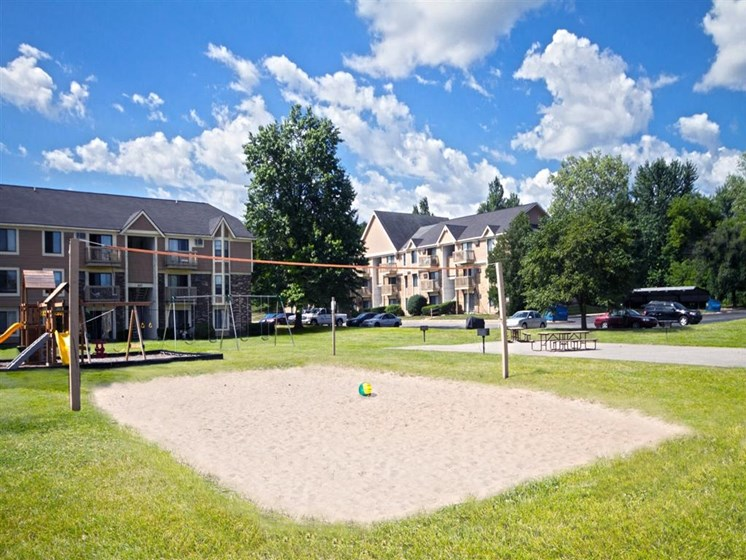 Sand Volleyball Court at The Orchards Apartments in Grand Rapids, MI
