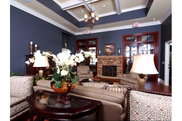 Legends at Oak Grove Apartment Homes Knoxville, TN 37918 Resident Clubhouse with fireplace