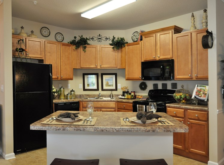 Legends at Oak Grove Apartment Homes Knoxville, TN 37918 faux granite countertops and lots of storage