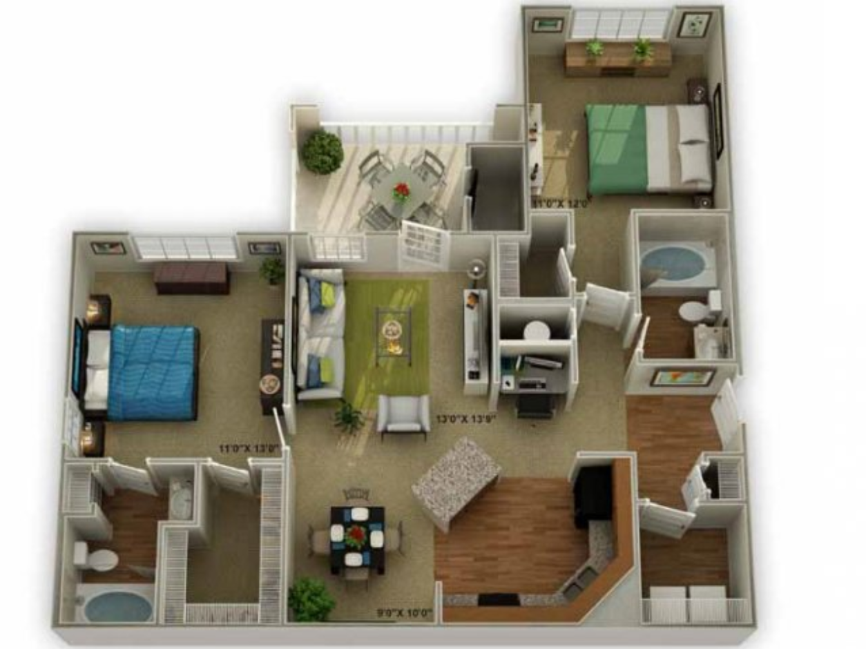 Legends at Oak Grove Apartment Homes Knoxville, TN 37918 brookstone floor plan 2br 2ba