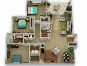 Legends at Oak Grove Apartment Homes Knoxville, TN 37918 Legend 3br 2ba floor plan