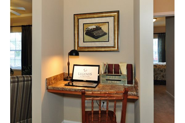 Legends at Oak Grove Apartment Homes Knoxville, TN 37918 built in computer desk