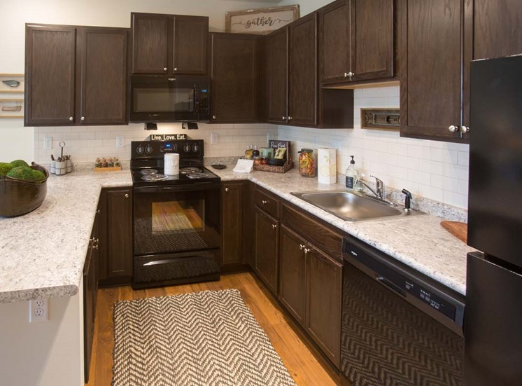 Dark wood cabinets at Walton Ridge, Marietta, GA