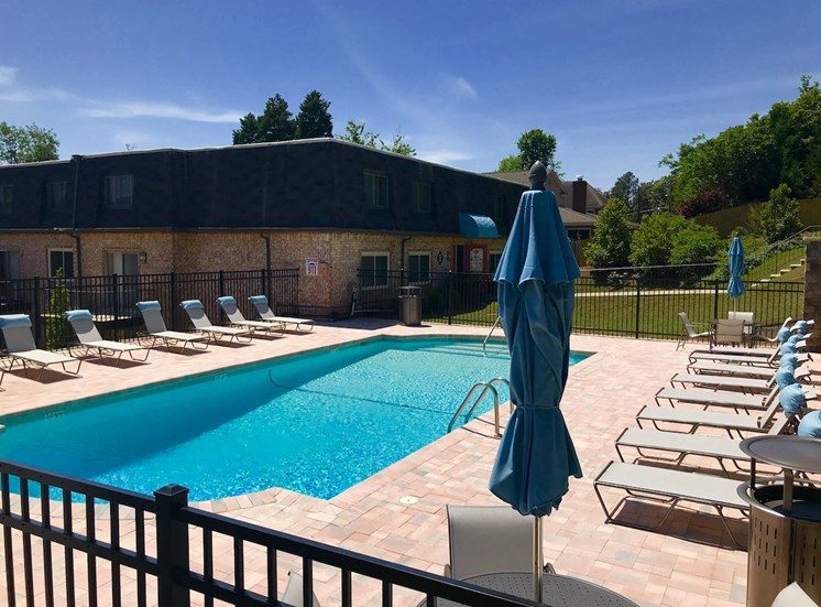 Terraces at Summerville Augusta, GA 30904 stunning pool with lounge furniture and sundeck
