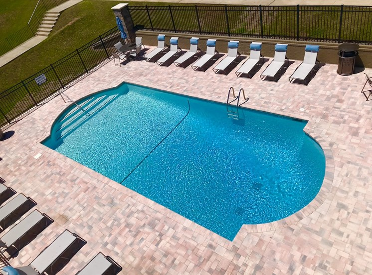 Terraces at Summerville Augusta, GA 30904 pool aerial view