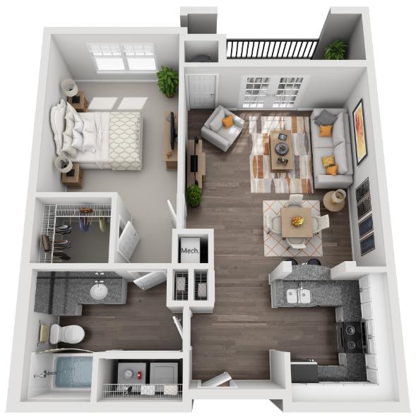 The Beltline Floor Plan 4