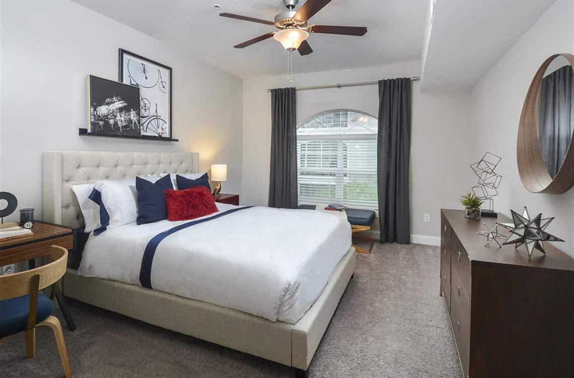 Apartments In Atlanta, GA | Savannah Midtown Ceiling Fans With Lighting In  Bedrooms And Living Room