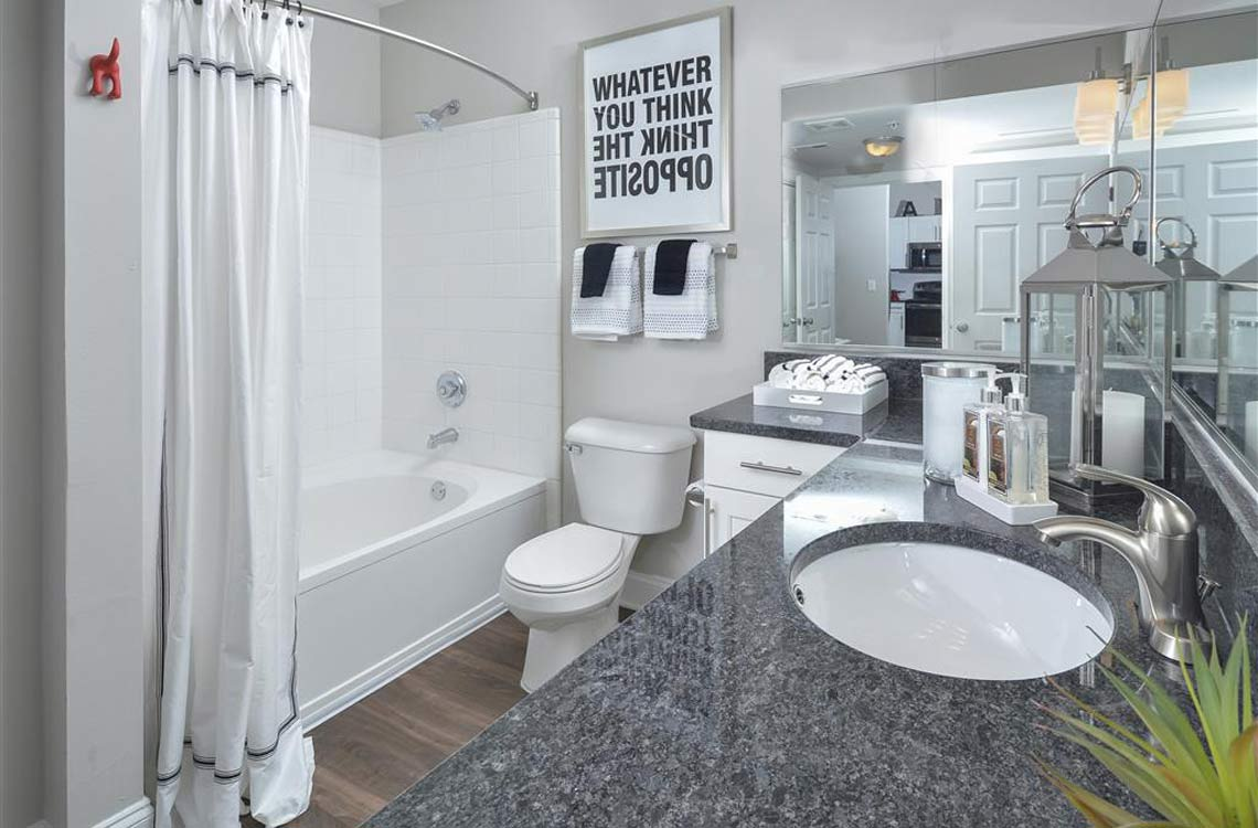 Great Apartments In Atlanta, GA | Savannah Midtown Bathrooms With Modern Finishes