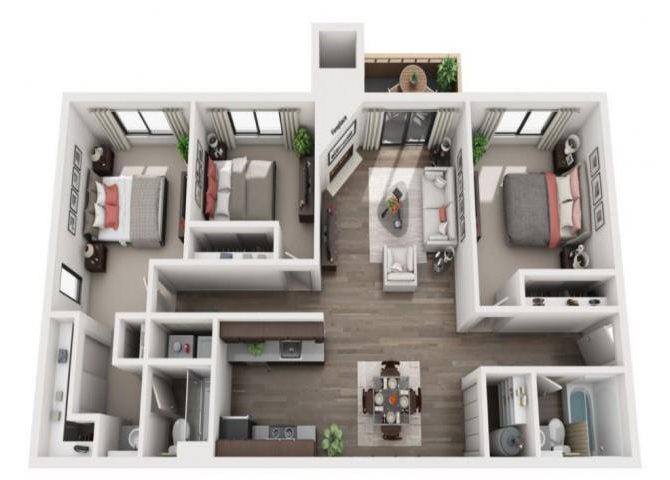 Oak Floor Plan 4