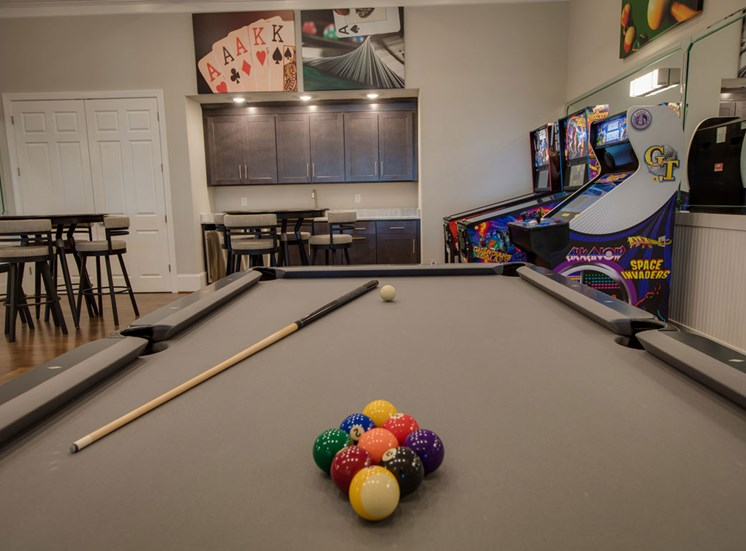 Fully equipped game room at The Villages at McCullers Walk, Raleigh