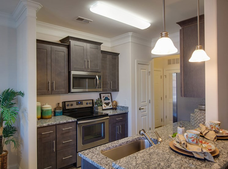 Designer kitchen at The Villages at McCullers Walk, Raleigh