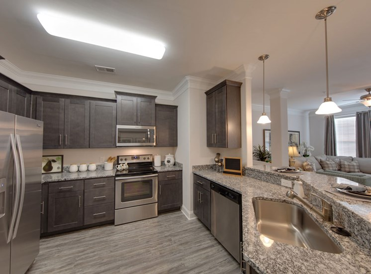 Spacious kitchen with designer touches at The Villages at McCullers Walk, North Carolina, 27603