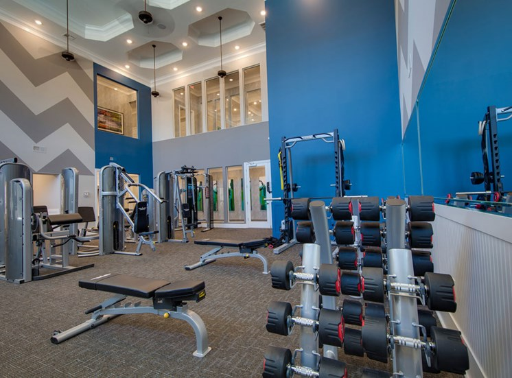 Gym at The Villages at McCullers Walk, Raleigh, North Carolina