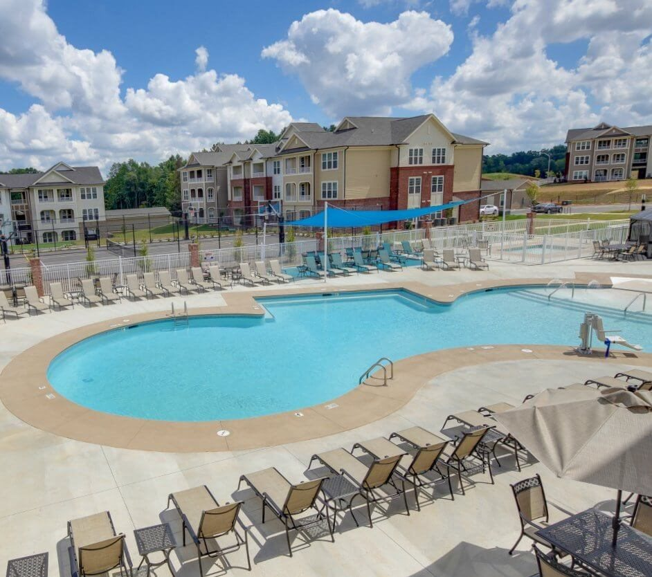 Pool with Custom Steps at The Villages at McCullers Walk, North Carolina, 27603