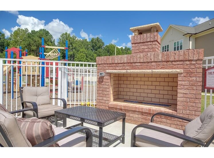 Fireplace at The Villages at McCullers Walk, Raleigh, NC, 27603