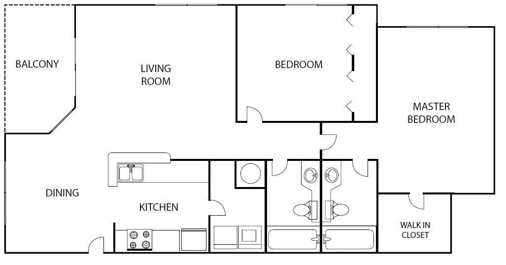 Featherwood 2 bedroom 2 bath bay club apartment homes Jacksonville florida