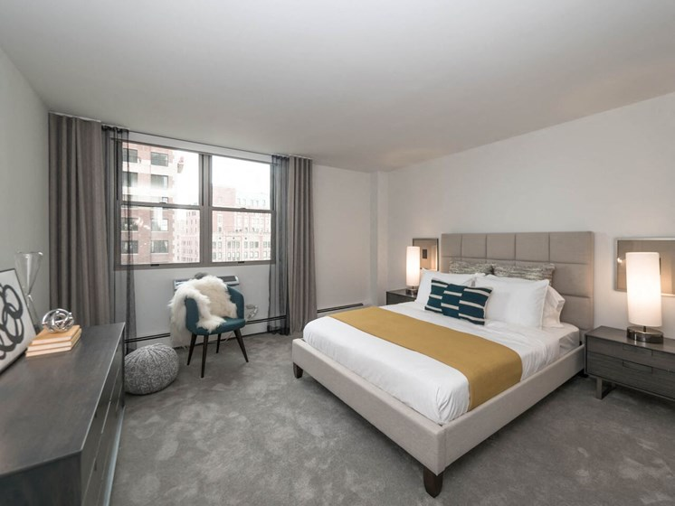 Spacious & Contemporary Bedroom at Wave, Chicago, Illinois