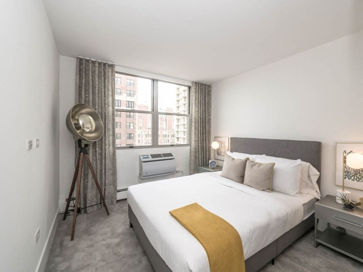 Upscale & Urban Bedroom at Wave, Chicago, IL