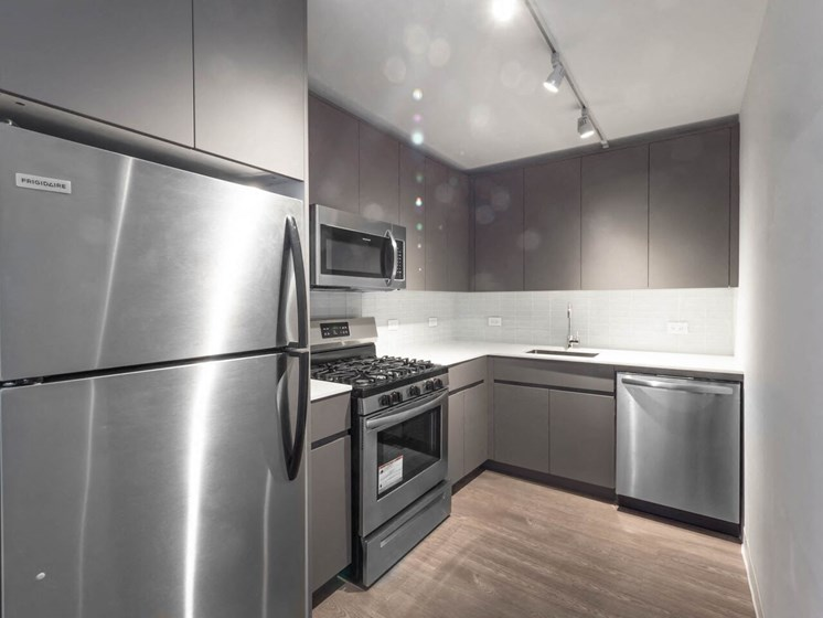 Stainless Steel Appliances in Modern Kitchen at Wave, Chicago