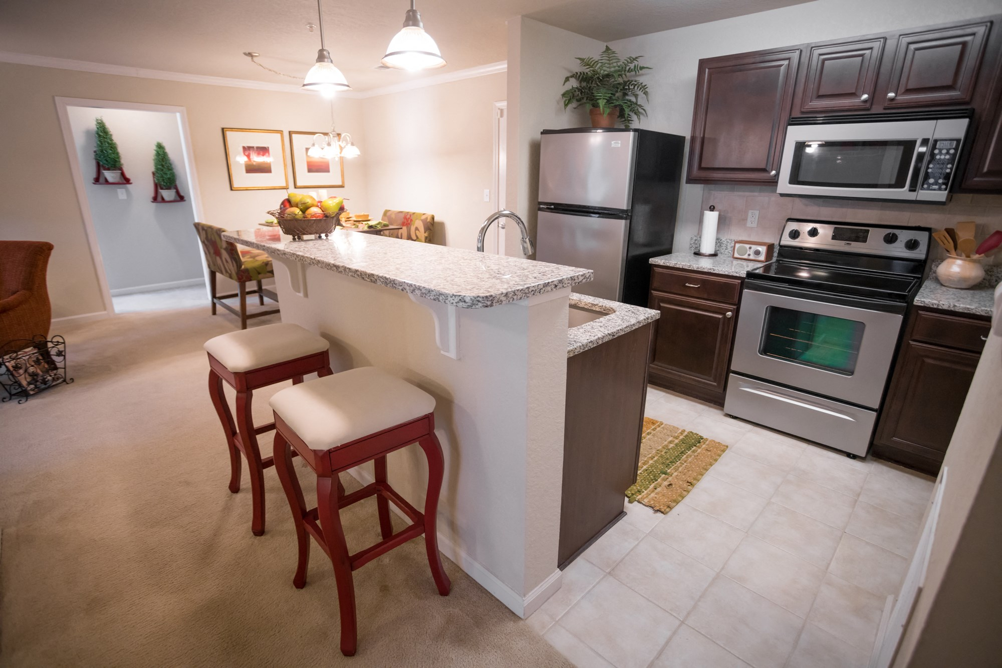 Breakfast Bar at The Haven at Commons Park Apartments in Chattanooga, TN