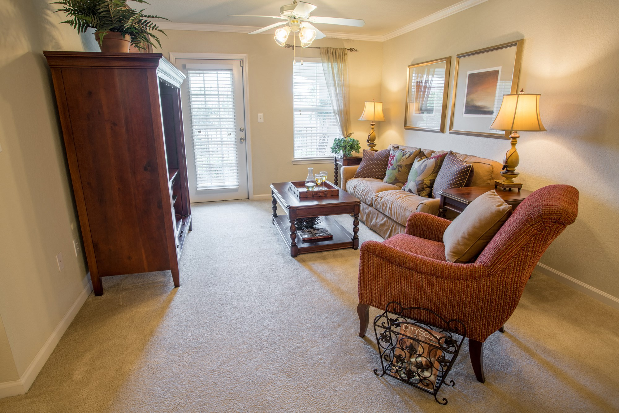 Living Room at The Haven at Commons Park Apartments in Chattanooga, TN