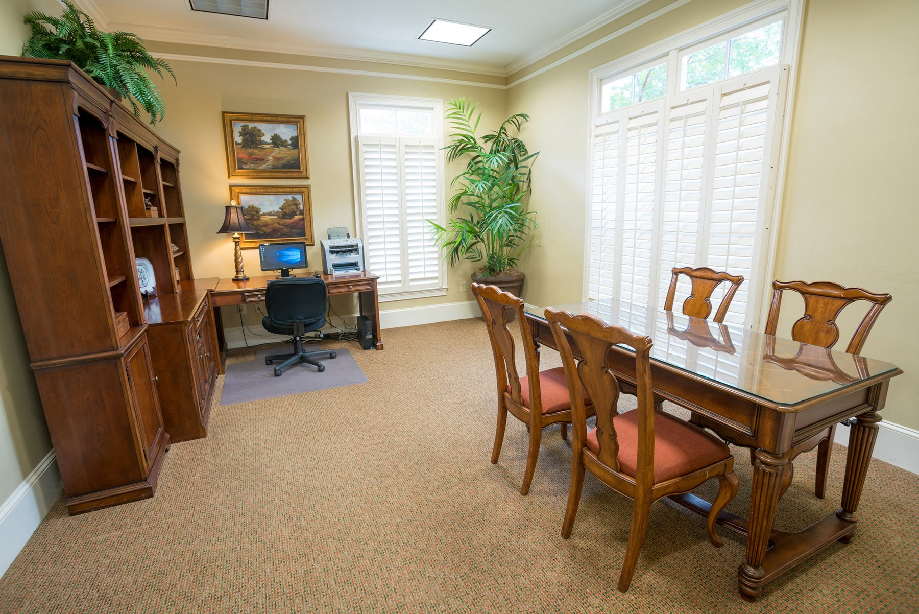 Business Center at Verandas at Taylor Oaks Apartments in Montgomery, AL