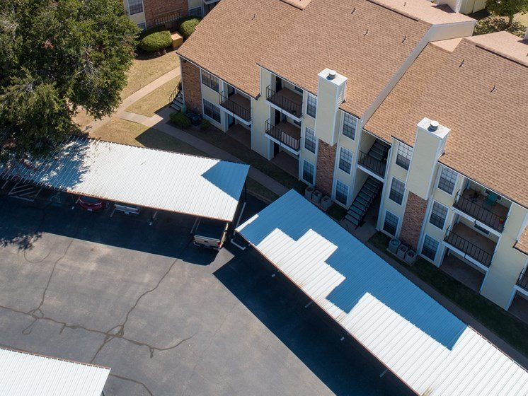 Arial Carport View at Country Club Villas in Abilene TX