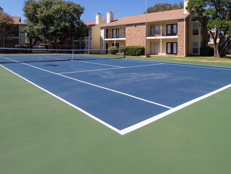Tennis Court at Country Club Villas in Abilene TX