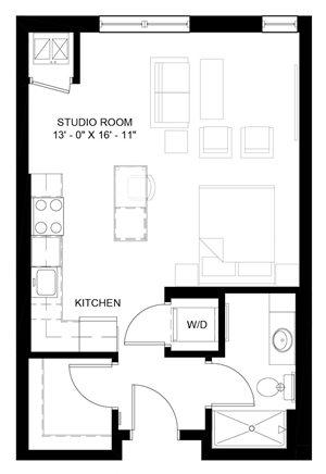 Elbert studio floor plan