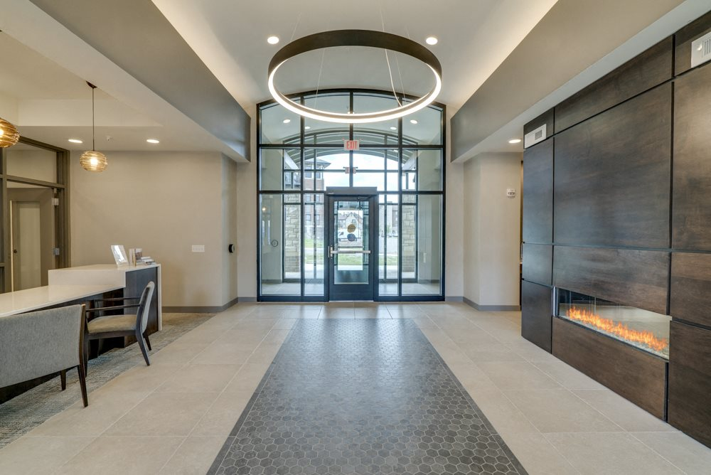 Entryway of Ascend at Woodbury luxury apartments for rent in south Woodbury MN