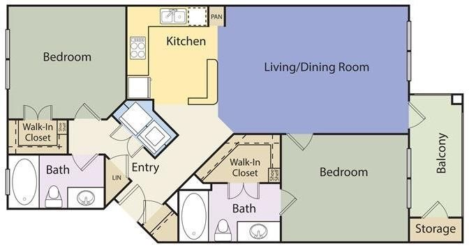 The Lincoln at Towne Square Apartments Celina Floorplan
